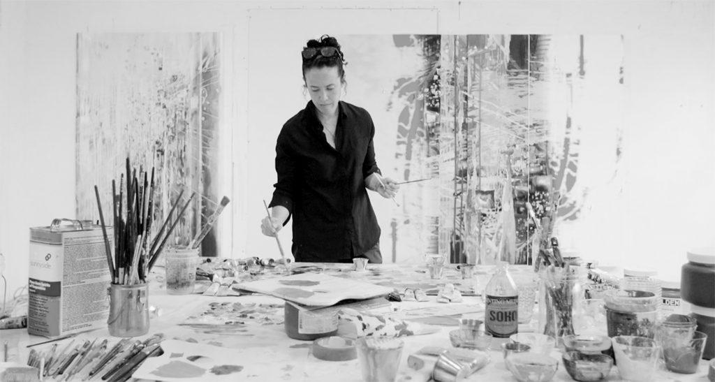 Portrait of Sarah (In Studio) Black & White (September 2018) [MR] Sarah Sze in studio, 2018 Courtesy Gagosian Gallery © Photo Sarah Sze Studio
