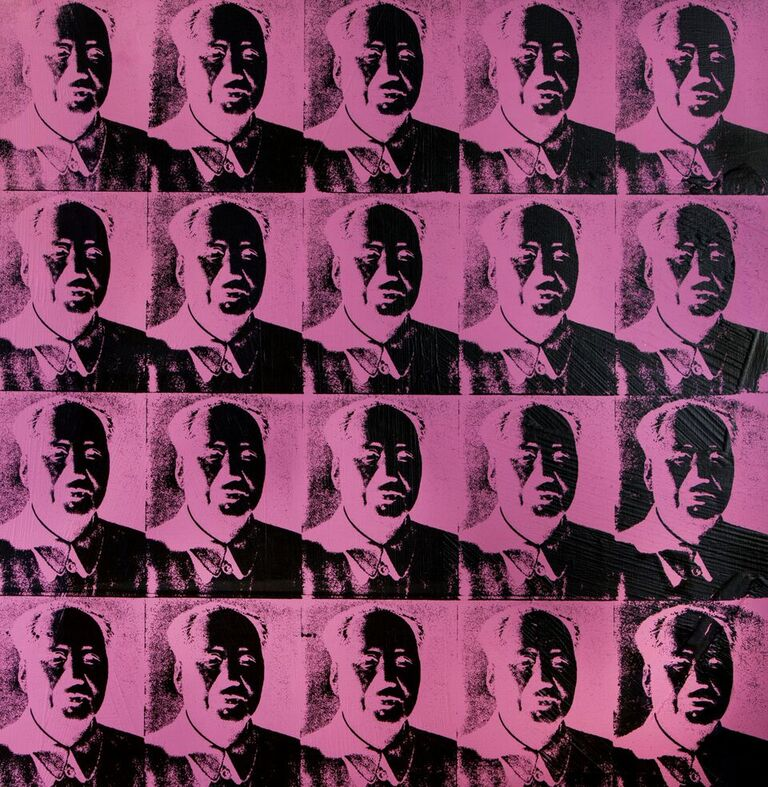 Twenty Fuchsia Maos © The Andy Warhol Found…isual Arts Inc
