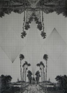 Ryan-Leigh-Fruit-Of-The-Pleroma-After-Hobbema-Graphite-on-graph-paper-2011-289x400