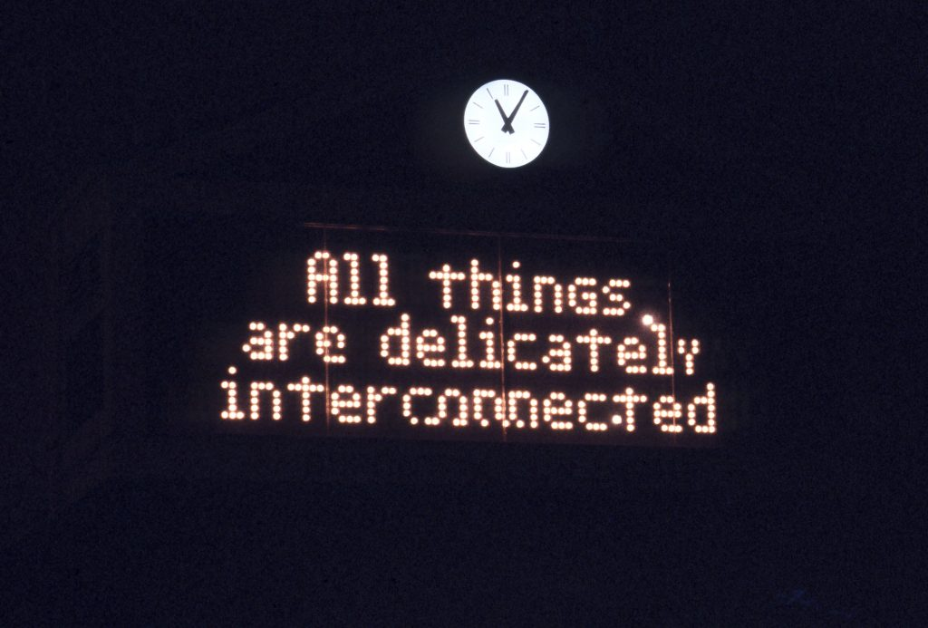 FAD MAGAZINE from Truisms (1977–79), 1986 Electronic sign Installation: In Other Words, Dupont Circle, Washington, DC, 1986 © 1986 Jenny Holzer, member Artists Rights Society (ARS), NY