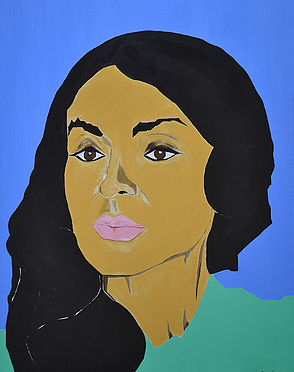 Sassan Behnam Bakhtiar. Portrait of Mehriban Aliyeva. Courtesy the artist