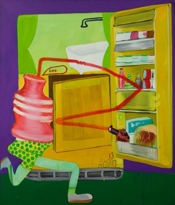 Peter Saul, Ice Box 8, 1963, Oil on canvas, 190 x 160 cm, Hall Collection, © Peter Saul, Courtesy Hall Art Foundation, Photo: Jeffrey Nintzel