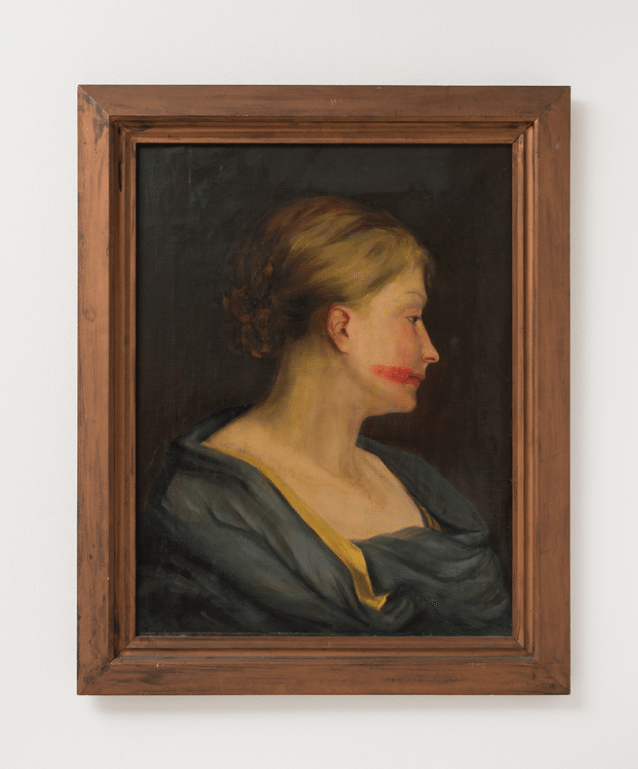 Hans-Peter Feldmann, Woman portrait with lipstick, @ Galleria Massimo Minini