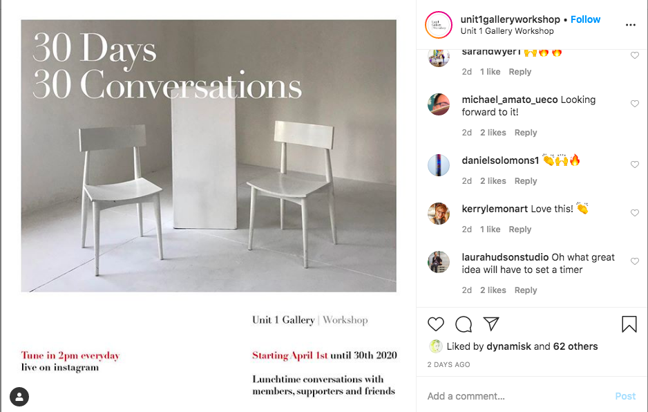 30 days 30 conversations! | Live on Instagram | 1-30 April, every day at 2pm (GMT)