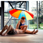 FAD MAGAZINE Ron Mueck Couple Under an Umbrella 2013 Mixed media 275 x 455 x 330 cm
