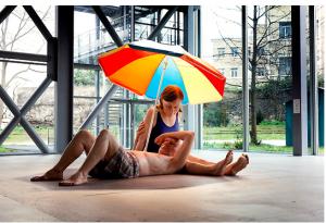 FAD MAGAZINE Ron Mueck Couple Under an Umbrella 2013 Mixed media 275 x 455 x 330 cm