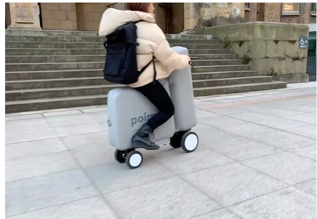 Introducing soft mobility- poimo the electric scooter that you can inflate with air. FAD MAGAZINE