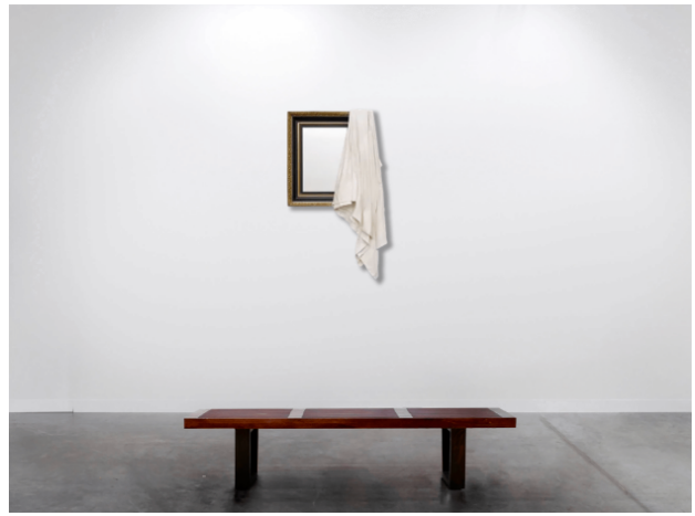 Ryan Gander  I be... (xxv), 2018  Antique mirror, marble resin 160 x 85 x 15 cm 62 7/8 x 33 3/8 x 5 7/8 in FAD MAGAZINE