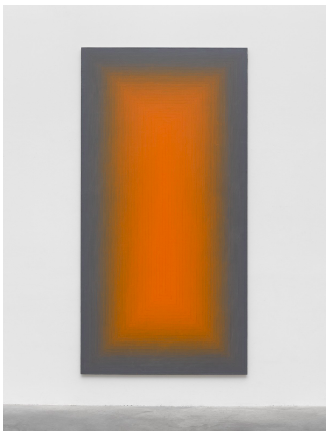 Peter Schuyff Untitled 1988 Acrylic and pencil on linen 116 1/8 × 59 1/16 in. (295 × 150 cm)
