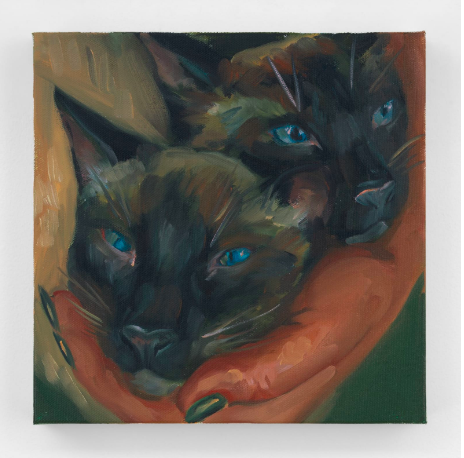 Chloe Wise Hans and Pluto, 2020 Oil on canvas © Chloe Wise - Courtesy of the Artist and Almine Rech - Photo: Chloe Wise FAD MAGAZINE