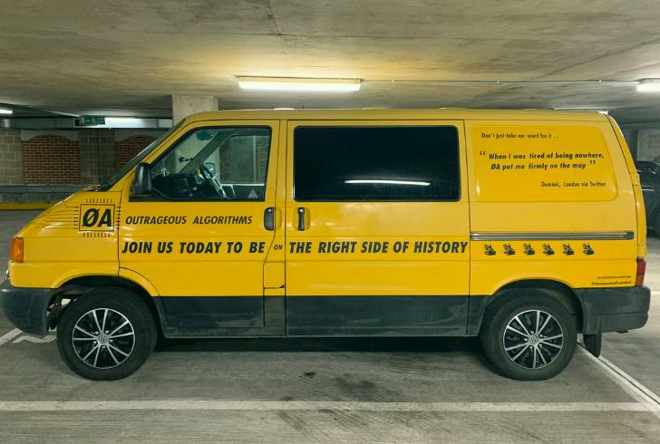 Outrageous Algorithms, a mobile artwork by Rachel Ara