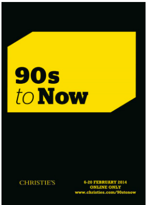 Christie's London Post-War & Contemporary Art department will launch '90s to NOW'