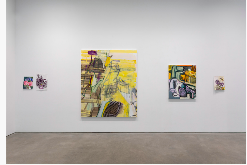 Installation view, Amy Sillman: Twice Removed, Gladstone Gallery, New York, 2020.