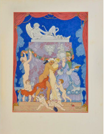 Renowned 20th C illustrator George Barbier's Les Liaisons Dangereuses, with incredible art deco illustrations