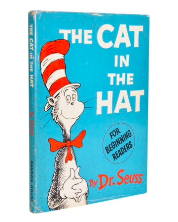 Dr Seuss's famous work The Cat in the Hat, first edition 1957