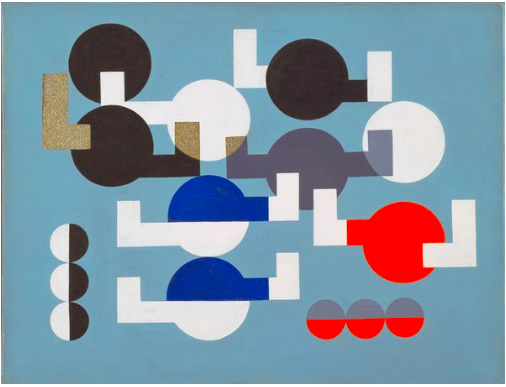 Sophie Taeuber-Arp Composition of Circles and Overlapping Angles 1930. The Museum of Modern Art, New York. The Riklis Collection of McCrory Corporation. Photo: The Museum of Modern Art, Department of Imaging and Visual Resources. © 2019 Artists Rights Society (ARS), New York / VG Bild-Kunst, Bonn