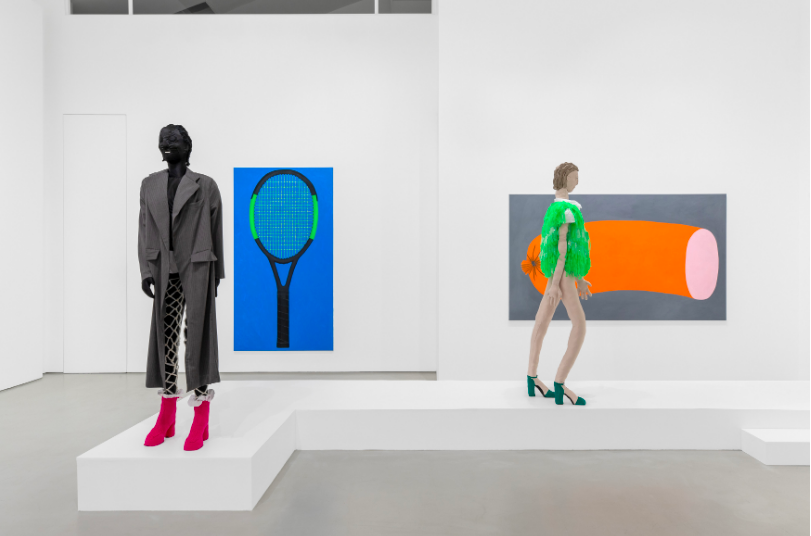 Raphaela Simon: The Fashion Show at Galerie Max Hetzler Installation view courtesy the galley and artist
