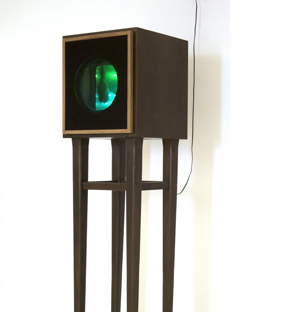 See Sound side view , 2014 , mix media sound installation