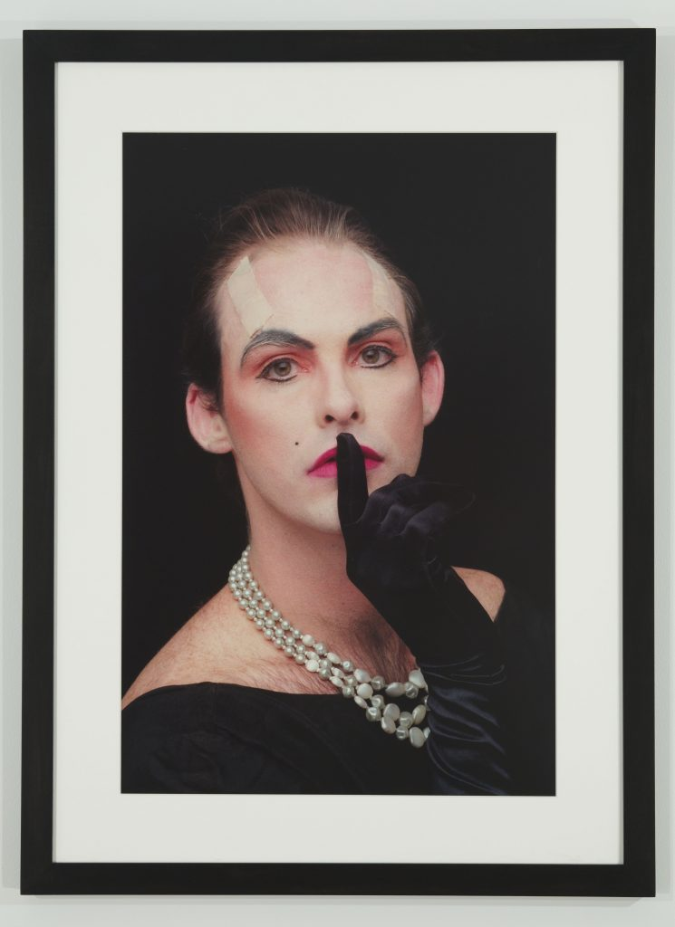 Hunter REYNOLDS Shhh (from Patina du Prey Drag Pose Series), 1990/2012 digital c-print mounted on centra 30 x 22 3/4 in. (76.2 x 57.79 cm)Photo credit: Michael Wakefeld Courtesy of the artist, P.P.O.W and Hales Gallery