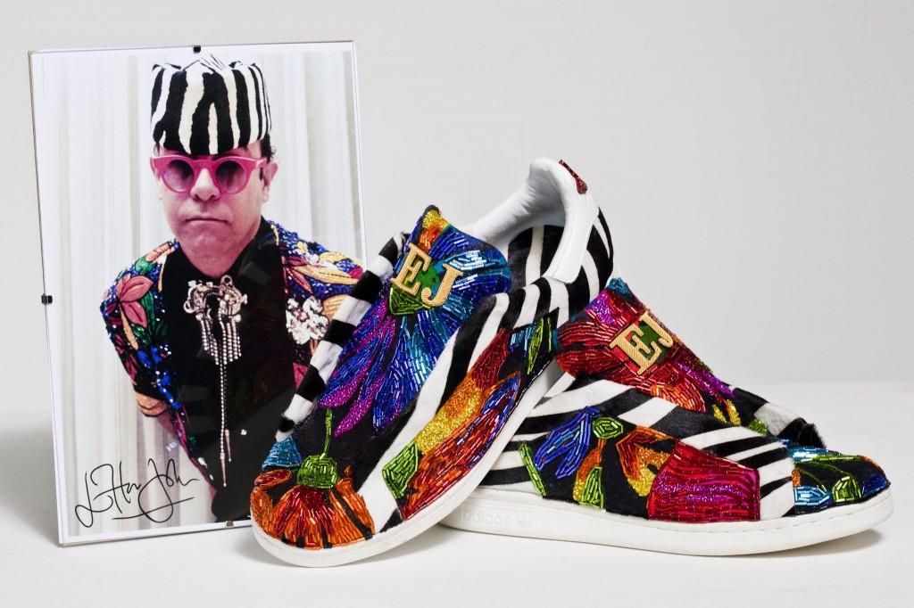 Sir Elton John adidas Stan Smith trainers