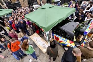 Sir Peter Blake tent at the Vauxhall Art Car Boot Fair 2013 (92)