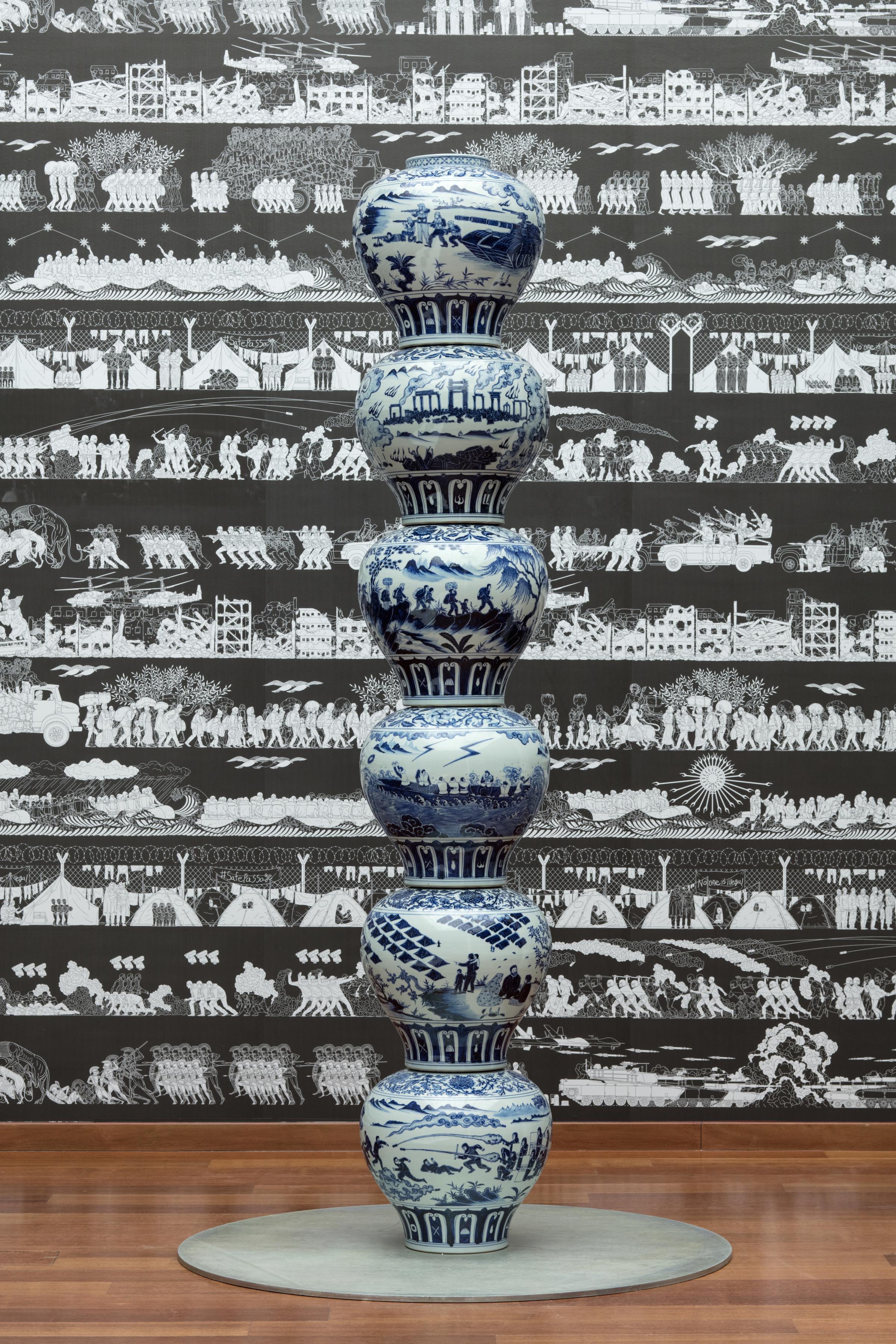 Stacked Porcelain Vases as a Pillar, 2017 Photo credit: Ai Weiwei Studio FAD MAGAZINE