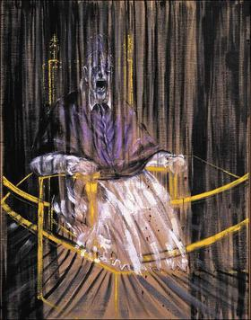 Francis Bacon's take on Velazquez's Pope Innocent X
