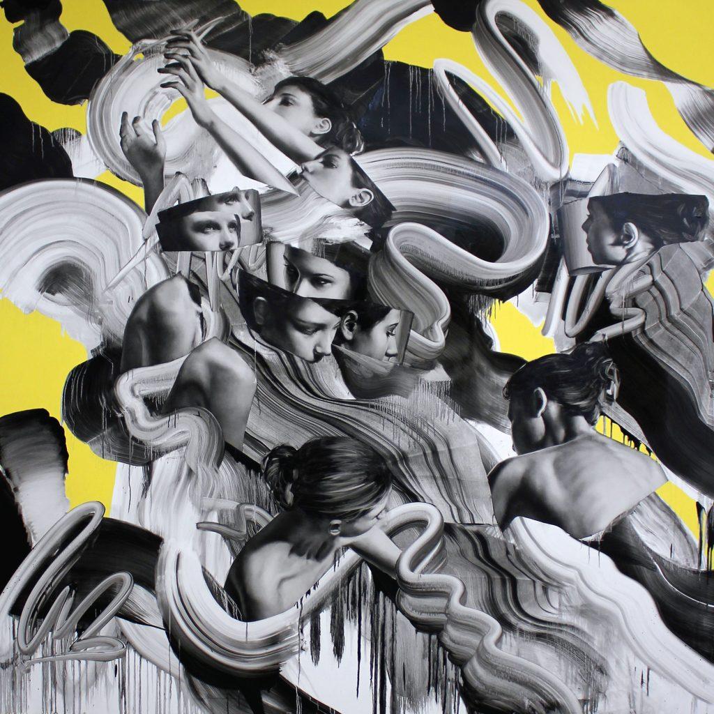 TOM FRENCH Parallax 4, 2019 Oil & acrylic on Italian cotton canvas. 200 x 200 cm