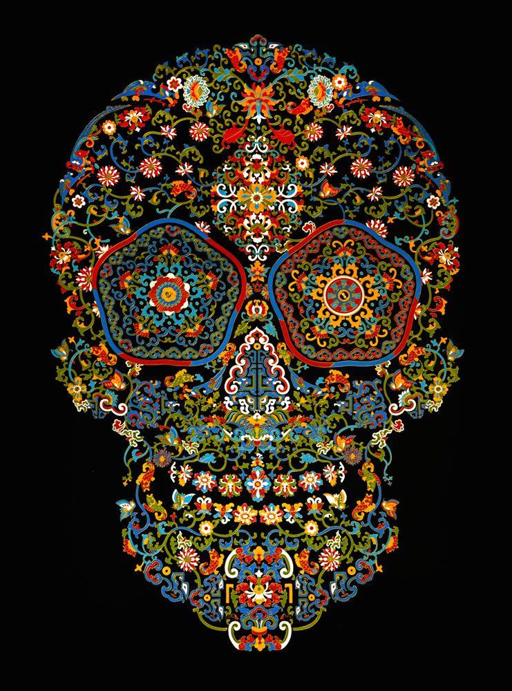 TSAI Jacky, Cloisonné skull, 2015