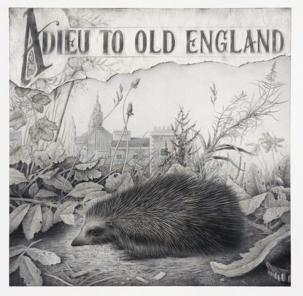 Sverre MallingAdieu to Old England, 2020Charcoal and pencil on paper76 x 57 cm29 7/8 x 22 1/2 in
