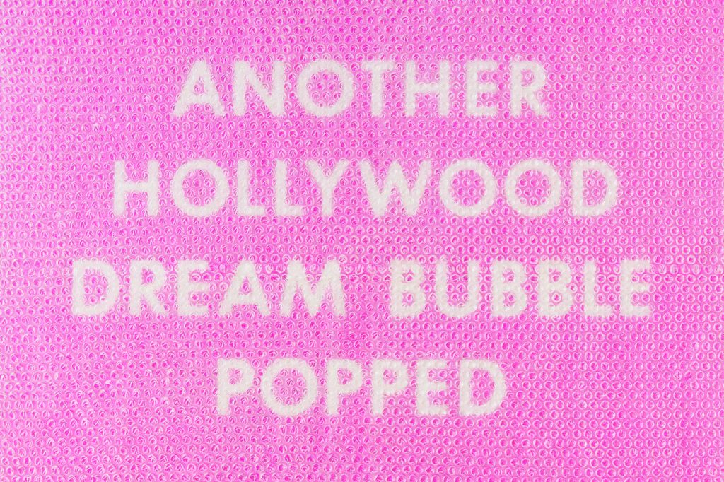 Tammi Ruscha Another Hollywood Dream Bubble  framed and wrapped  FAD Magazine