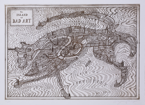 The Island of Bad Art by Grayson Perry. Courtesy the artist.