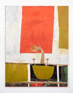 FAD MAGAZINE Florence Hutchings The Kitchen Sink II 2020 Oil, collage and oil bar on canvas 190 x 150 cm Florence Hutchings Low Res