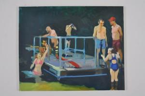 Tom Farthing, Bathers, 2013, oil on canvas, 40.5x50.5cm