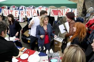 Tracey Emin at the Vauxhall Art Car Boot Fair 2013 (36)