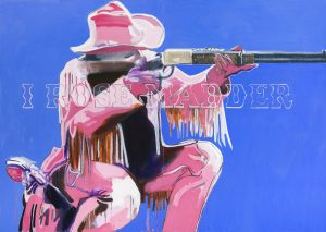Trish Wylie painting FAD magazine