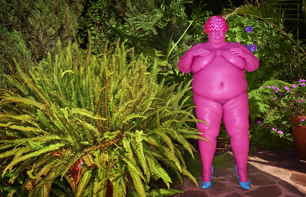 Venus of Willendorf (Pink), 2016 Impression pigmentaire / pigment print, 76 x 112 cm © David LaChapelle. Courtesy Templon, Paris & Brussels