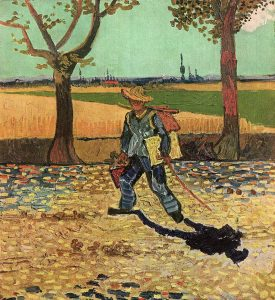 Van Gogh, On the Road to Tarascon, (July 1888). Oil on canvas FAD MAGAZINE