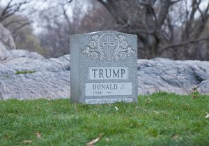 Brian Andrew Whiteley The Legacy Stone Project (The Donald Trump Tombstone), 2016 Granite 20 x 24 x 8 inches 50.8 x 61 x 20.3 cm