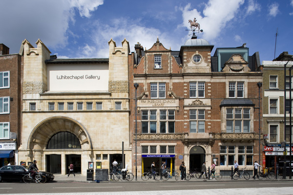 Whitechapel Art Gallery, London, England. Architects: gallery by Charles Harrison Townsend, library by Potts, Son & Hennings, expansion by Robbrecht en Daem
