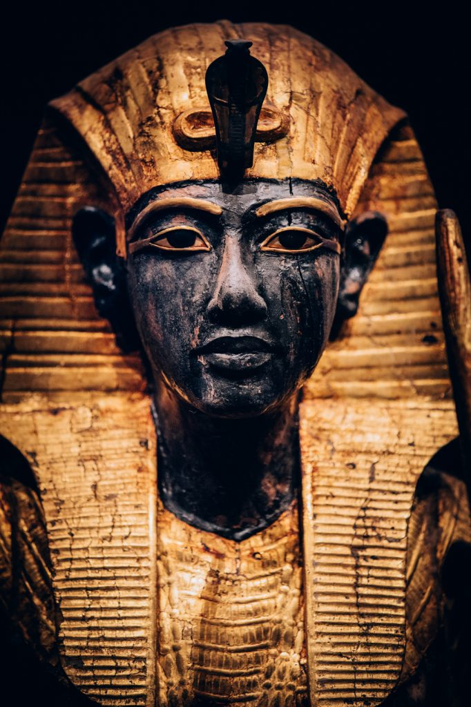 Wooden Guardian Statue of the Ka of the King Wearing the Nemes Headcloth - CREDIT IMG