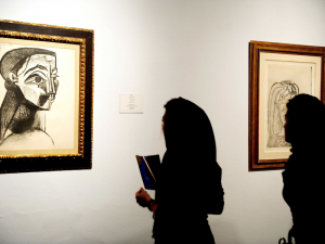 One of the known Pablo Picasso works held in collections of the Museum of Contemporary Art in Tehran. (Associated Press) Read more: https://www.smithsonianmag.com/smart-news/ten-picassos-discovered-amid-tehran-museums-hidden-collection-western-art-180969899/#PcxDrRRQB73PjMmT.99 Give the gift of Smithsonian magazine for only $12! http://bit.ly/1cGUiGv Follow us: @SmithsonianMag on Twitter