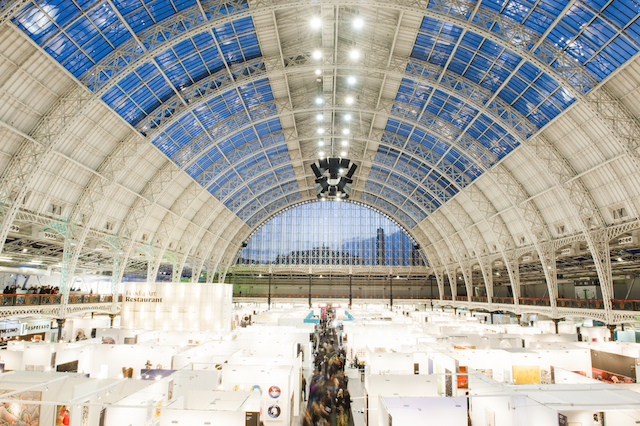 An art fair at Olympia in full flow
