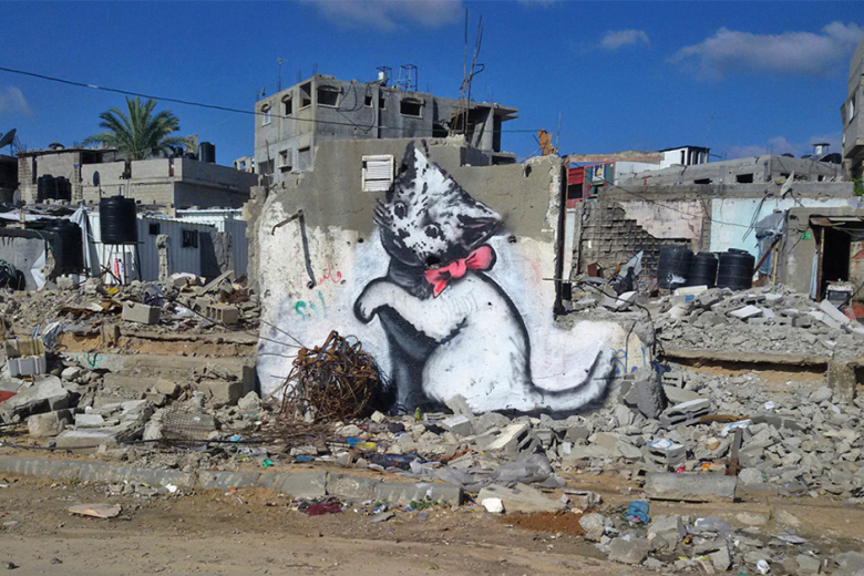 banksy-invades-gaza-for-artists-newest-project-1