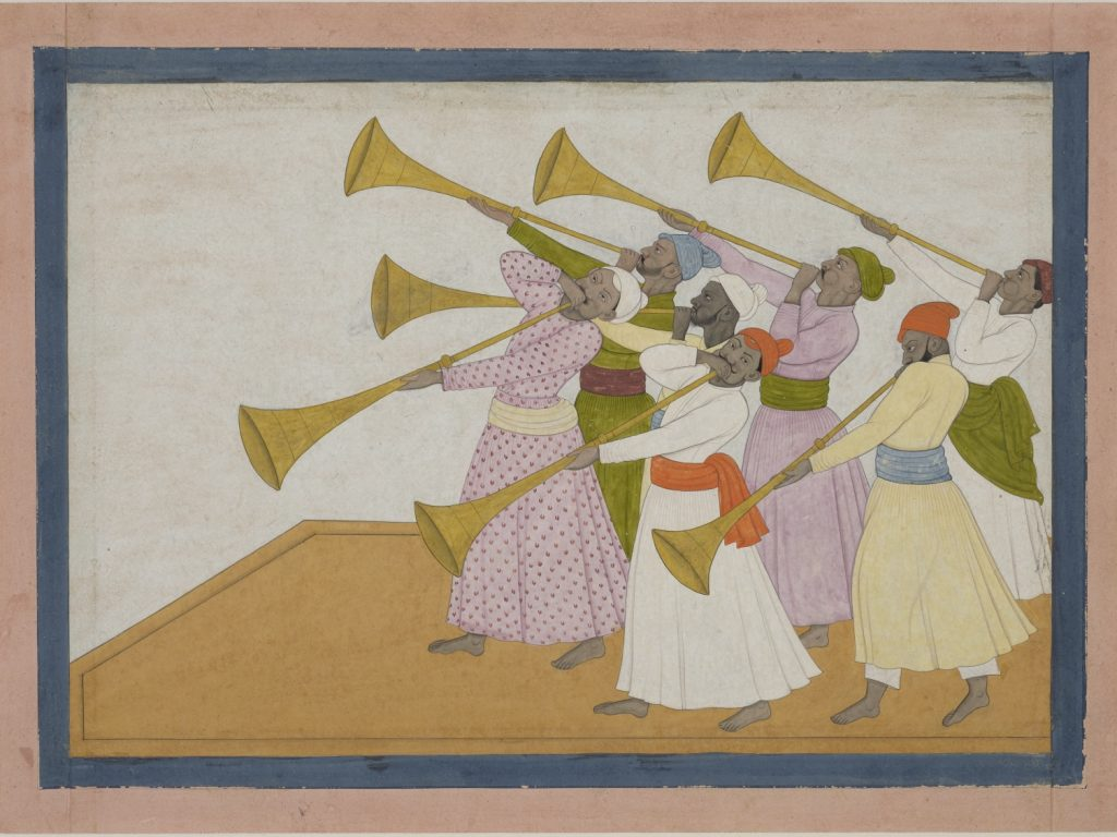 'The Trumpeters' by Nainsukh of Guler (c) The Trustees of the British Museum