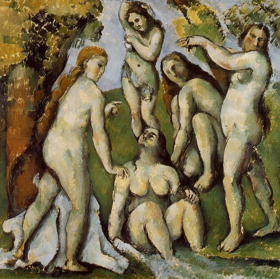cez 1885 87 Five Bathers Kunstmuseum Basel Switzerland rep15 Paul's ART STUFF on a plane # 114: 'The Famous Fives'