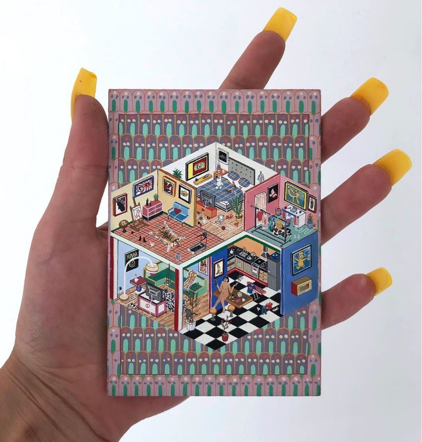 Paola Ciarska</strong> holds one of the art-laden interiors in which her naked avatar lives the isolated life in some luxury