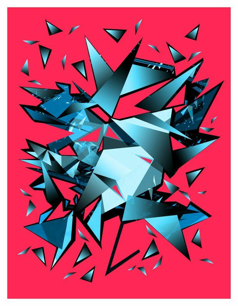 Rupert Newman After Warhol (2014) Hand Finished Digital Print, Silk Habutai 46 x 60 cm Edition of 3