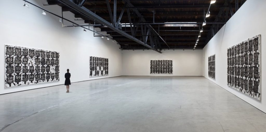 "Installation view of ""Rashid Johnson: Fly Away"" at Hauser & Wirth, 2016. © Rashid Johnson. Photo by Martin Parsekain, courtesy of Hauser & Wirth."