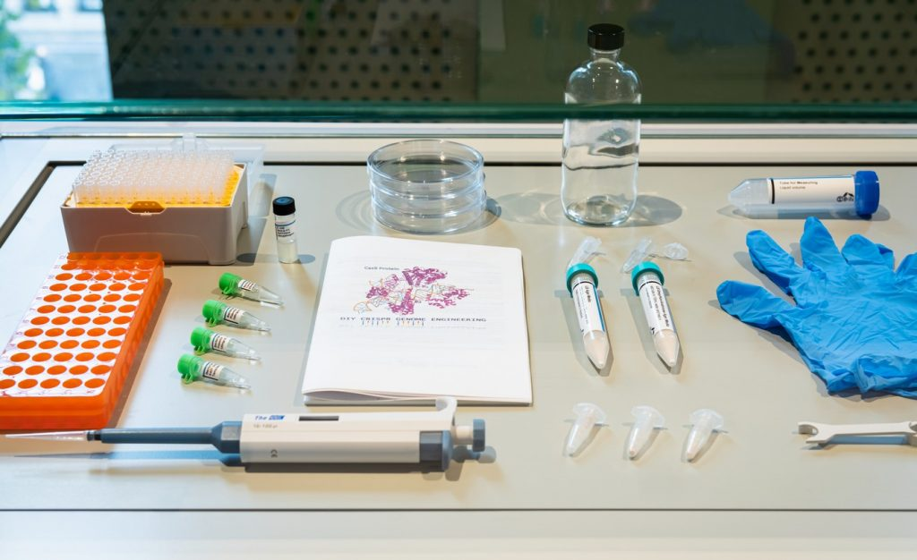 Don't try this at home! This kit claims to include everything you would need to edit DNA.